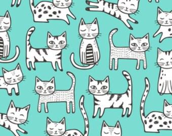 Cats in Mint Bodysuit Organic baby clothes baby bodysuit organic Bodysuit Long sleeve short sleeve Baby newborn baby boy shirt