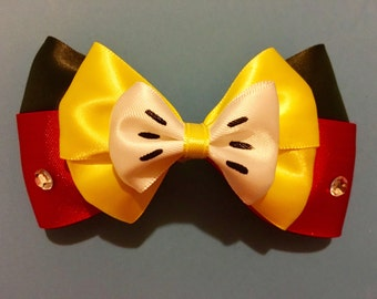 Mickey Mouse Inspired Bow Mickey Mouse Hair Bow Disney Bow Disney Bows Disneybound