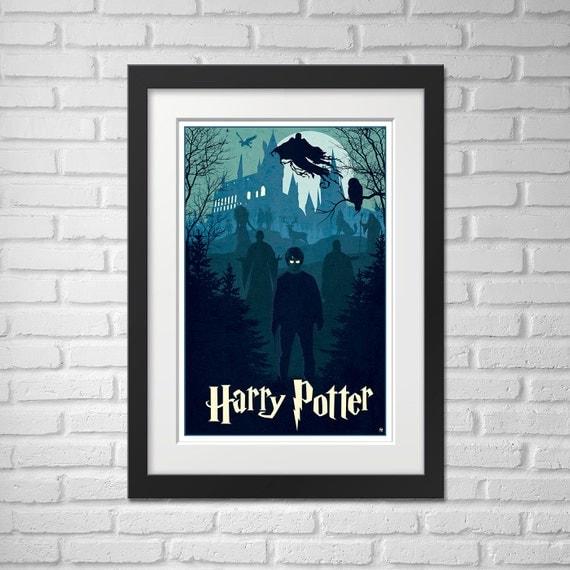 Harry Potter Movie Poster Illustration / Harry Potter Movie Poster / Movie Poster / Harry Potter