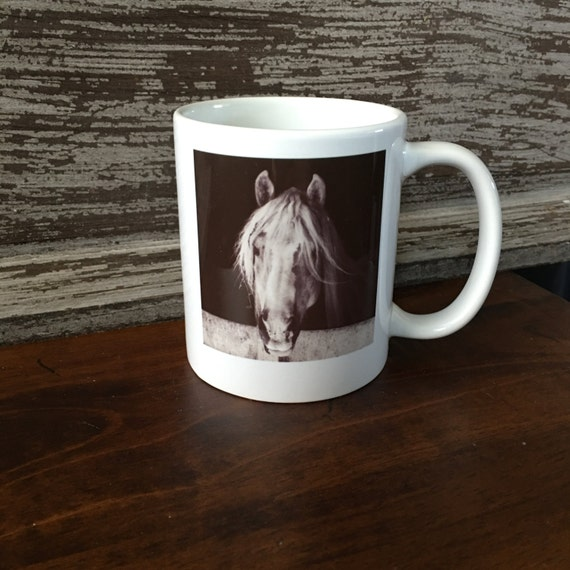 Horse Mug - Horse Cup - Ceramic Coffee Cups - Black White Decor - Farm House - Horse Gifts - Coffee Mugs - Cute Gifts - Birthday Gifts