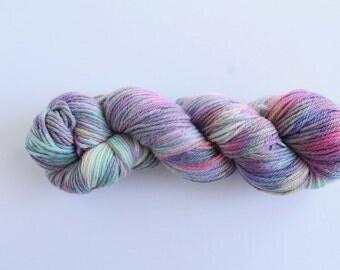 Run: Stranger Things themed hand dyed yarn, 100g of baby alpaca and merino wool DK weight yarn