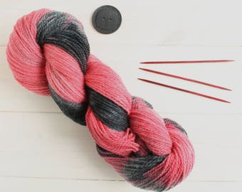 Scarlet Witch - Avengers themed hand dyed yarn - 100% organic yarn - fingering weight - 100g skein