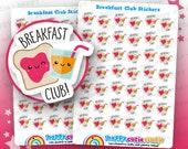 42 lindo desayuno Club/escuela planificador pegatinas Filofax, Erin Condren, planificador feliz, Kawaii, Cute pegatina, Reino Unido