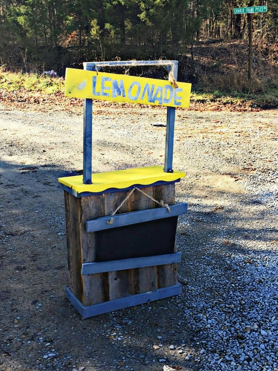 Rustic kids lemonade stand by piddlinpedalin on etsy for Rustic lemonade stand