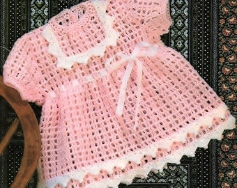 Baby Girls Dress, Crochet Pattern. PDF Instant Download.
