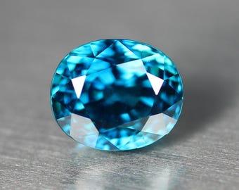 Natural Blue Zircon 3.20 CT
