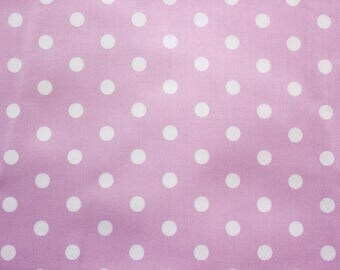 Polka dot Fabric, Cotton Fabric, Lavender, Medium Dots, Basic Essential, Quilting Dressmaking Sewing Patchwork Supplies, Wide, Half Metre