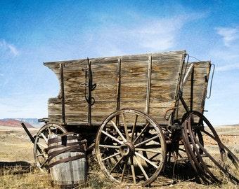 Rustic decor, Farmhouse decor, old cart, color photograph, rustic wall decor, rustic print, rustic photograph, farmhouse photography.