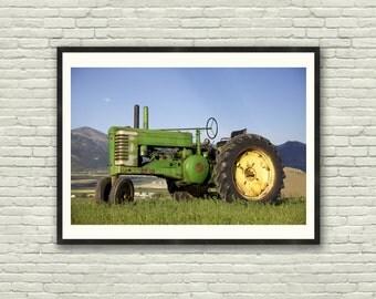 Tractor Print, Farm Photography, Farmhouse wall art, Color Photograph, Farmhouse Decor, Farmhouse wall print, Country Decor, Rustic Wall Art
