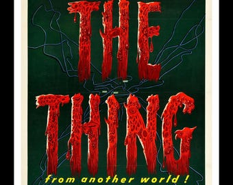 The Thing from Another World - retro horror movie poster print 11x17