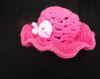 Baby's Summer Beach Hat, Baby's Summer Hat with Ruffled Brim