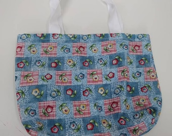 Small bag - floral faux patchwork