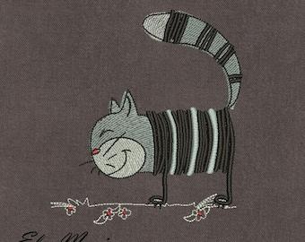 Funny Cat Kindergarten Just Got Cuter Machine Embroidery Design, Pre-K, Girly, Arrow, Girls Applique