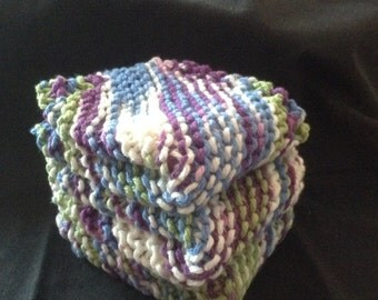 Knitted Dishcloths Set of 3 - Fruit Punch