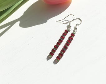 Seed Beads Earrings, Seed Beads Jewellery, Modern Clip On, Simple Earrings, Gift For Her, Christmas Earrings, Womens Gifts, Jewellery Gifts