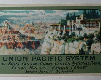 Calendar - 1930 Union Pacific System - Pocket Card Calendar
