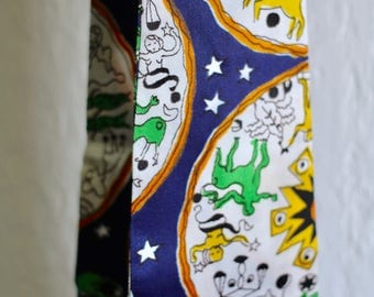 Zodiac Scarf or Tie - great fabric!