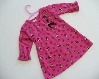 GIRLS PINK DRESS, holiday, birthday dress, play date dress, girls dress, baby dress, toddler dress, handmade