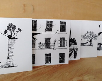 "5 postcards ""urban nature"""