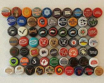 Beer Bottle Cap Magnets - 6 Pack (Updated 6/1/17) *ships worldwide*