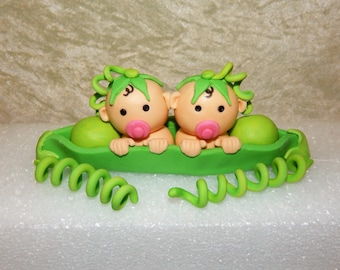 Twins Two Peas In A Pod Fondant Cake Topper