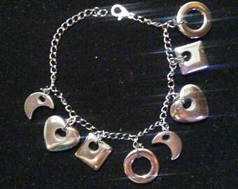 Hematite Charm Bracelet or Ankle Bracelet