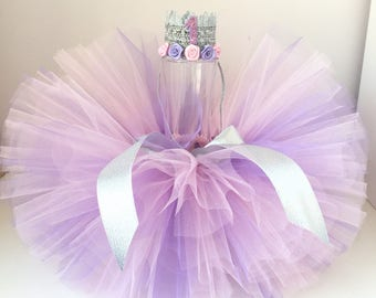 Tutu and Headband Set. Pink and Lavender tutu ,Pink lavender tutu,Newborn Tutu set , Baby Tutu, Newborn Photo Prop,  Tutus for Children