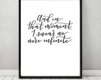 """Perks of being a Wallflower Quote 