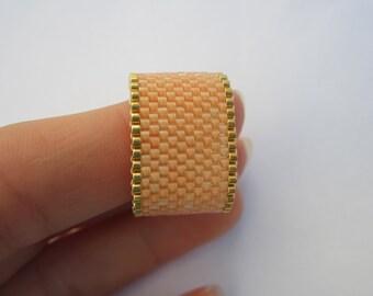 Miyuki ring, women ring, beaded rings, woven rings, peyote ring, minimalist ring, girls gift, coworker gift, friend gift, sister gift, ring