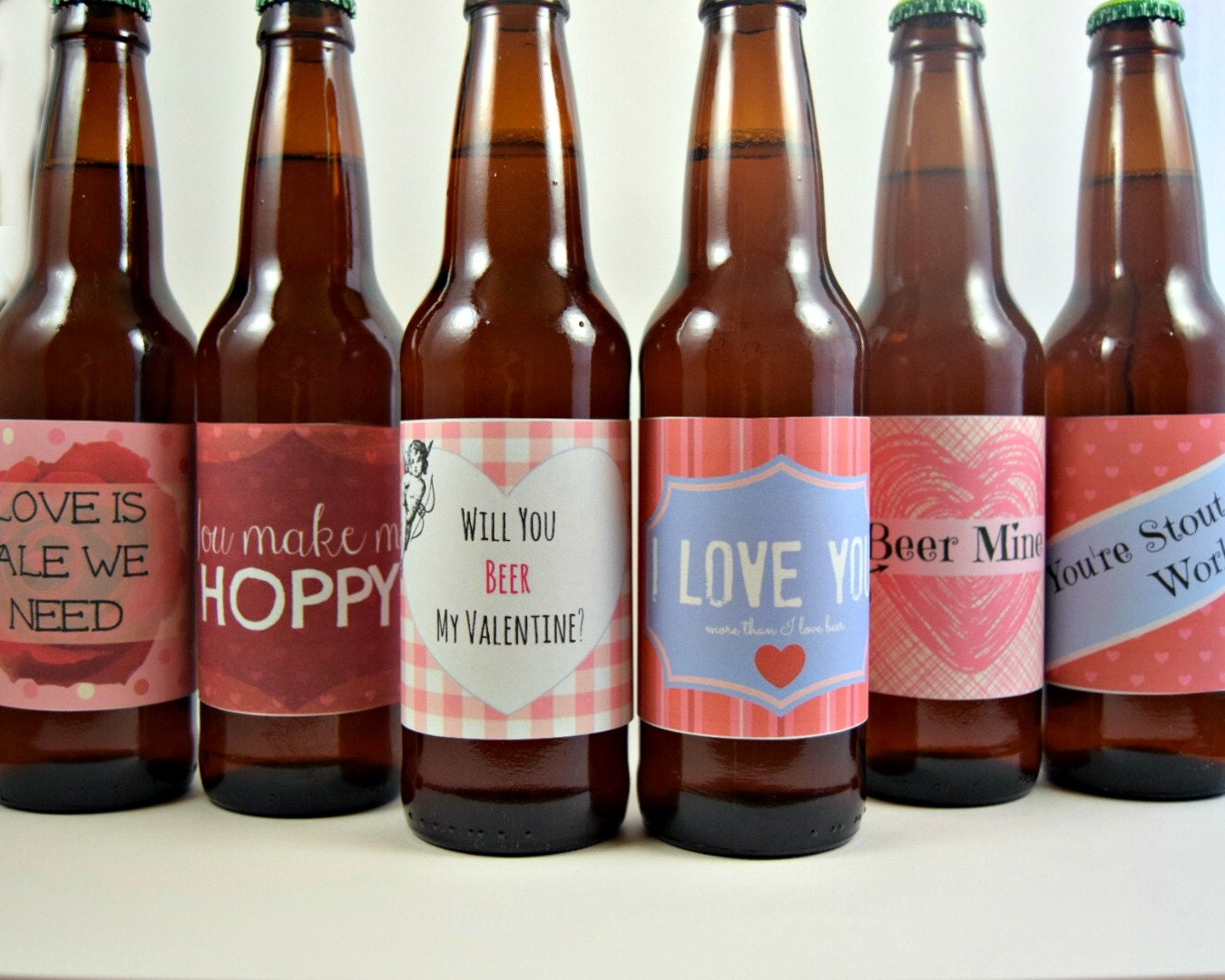 This is an image of Dynamite Free Printable Valentine Beer Labels