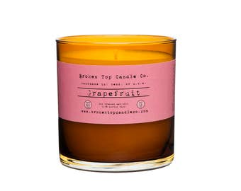 Grapefruit - 11 oz. glass scented soy candle