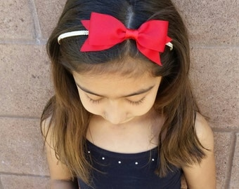 Set of 3 Red, Ivory, black holidays headbands, Holidays headbands, holidays headband, Christmas headband, Christmas bow, red bow