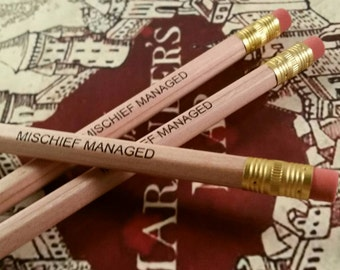 Harry Potter Set Of 3 Mischief Managed Pencils