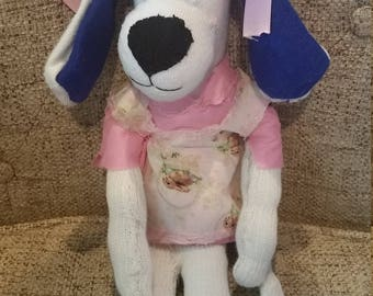 Handmade stuffed sock dog