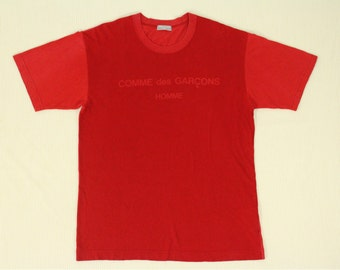 Comme Des Garcons T Shirt Homme Colour Block Spell Out Yohji Yamamoto Issey Miyake Junya Watanabe