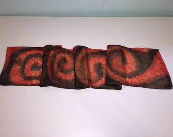 Hand Painted Silk Scarf - Swirls
