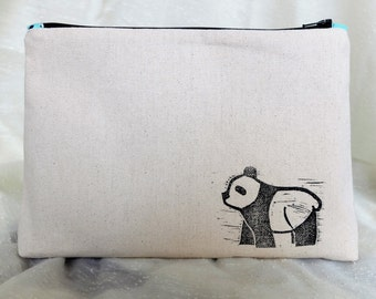 Mint Green Panda Toiletry Bag