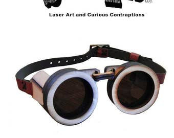 Steampunk Wooden Goggle Kit