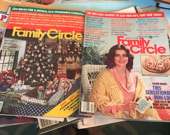 Family Circle set of two vintage magazines