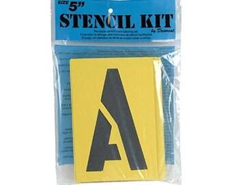 "Reusable Stencil Lettering Kit 5"""