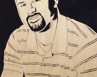 Custom Portrait, Commissioned Portrait, Portrait from Photo, Memorial Portrait, Wooden Portrait, Personalized Portrait, Scroll Saw Art, Wood