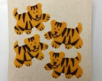 Vintage Rare Fuzzy Sandylion Tigers