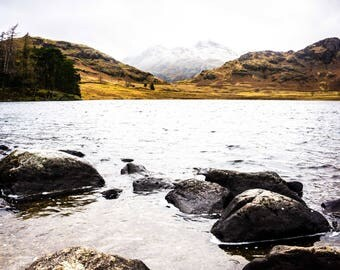 Lake Photography - Lake District - Landscapes - Mountains - Snow - Nature Photography - National Park - Stony Shore - 0087