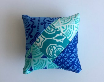 Turquoise and Blue Pincushion