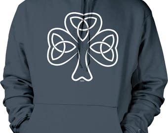Celtic Shamrock, Irish Pride, EIRE Hooded Sweatshirt, NOFO_00944