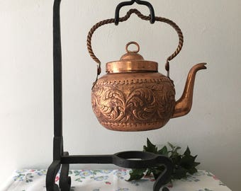 1960's Hammered Copper Tea Pot
