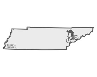 Tennessee Mountain Biking Decal