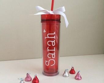 SALE! Valentine's Day Tumbler -- Valentine's Day Gift -- Teacher Cup