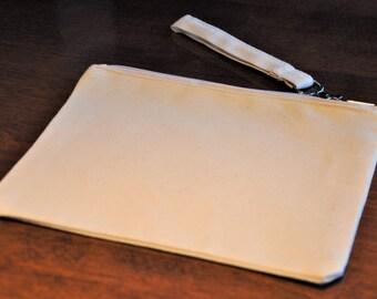 """Natural Canvas Wristlet (24 Pack) 6""""x9"""" 100% Cotton"""
