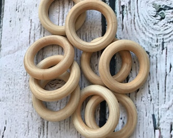 "Maple Hardwood 3"" Teething Rings"